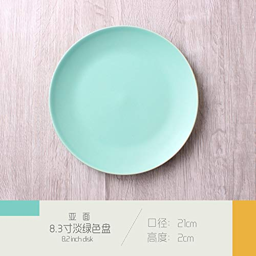 FANMENGY Plato de cena de Placa Platos creativos del hogar Plato de Arroz filete de cubiertos de cerámica de la torta de frutas desayuno occidental del plato Placa de Darling placa de 10 pulgadas Plat