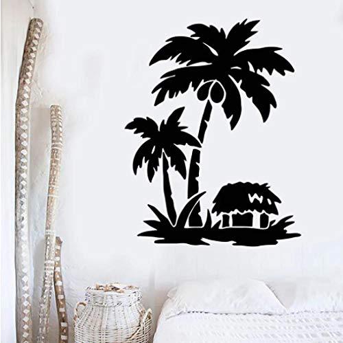 Decoración de pared Palm Tropical Beach Casa Vacaciones Viajes Vinilo Ventana Etiquetas...