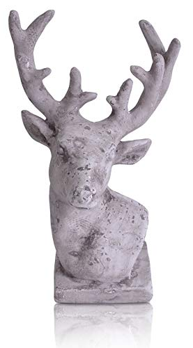 CHICCIE Figurine de cerf gris - 20 cm - Tête de cerf