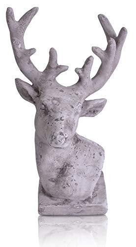 CHICCIE Figurine en Forme de cerf Gris 20 cm