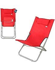 AKTIVE 62131 - Silla de playa plegable con almohada 76x50x71 cm AKTIVE Beach