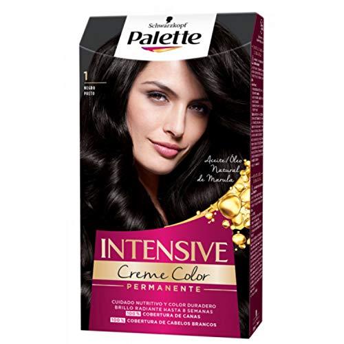 Palette Intense - Tono 1 Negro - 2 uds - Coloración Permanente - Schwarzkopf