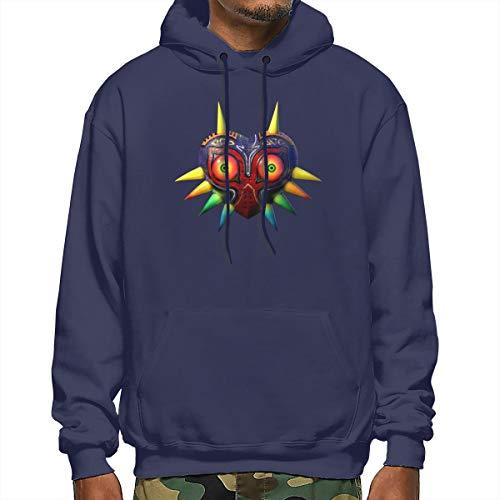 Legend of Zelda Mask Men's Hoodies Sweatshirt Hood with Pockets Hooded Sweatshirt Medium Thickness