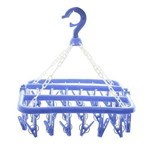 Aisoway Clips Calcetines Ropa Plegable Estante de la suspensión Clothespin tendedero Armario...