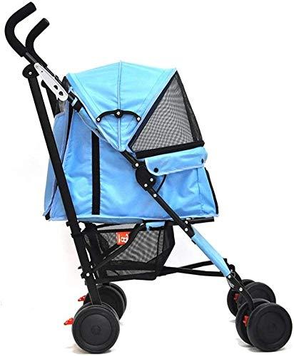Hundewagen Pet Stroller Hund Katze Kinderwagen, Kinderwagen, Katzen-Tier-Kinderwagen, Buggy for Reisen, Reise Vet Stroller Behindertensportkinderwagen, 2 Schwenkräder & Bremse hinten