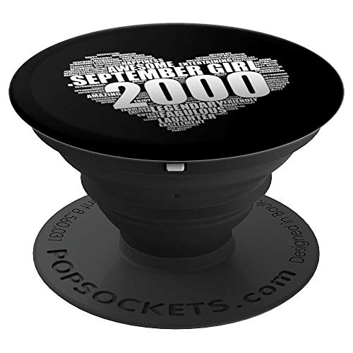 Legendary September Girl 2000 Awesome & Fabulous Big Heart PopSockets Grip and Stand for Phones and Tablets