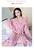 Bande Dessinée Belle Épaissir Chemises De Nuit Hiver Peignoir Femmes Pyjamas De Bain Flanelle Robe Chaude Vêtements De Nuit Femmes Robes Corail Velours, 836-1, Taille Unique