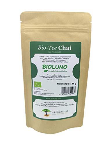 Chai Bio Tee 125g | ohne Aromastoffe | umweltfreundliche Verpackung | wir lassen einen Baum pflanzen | Bioluno