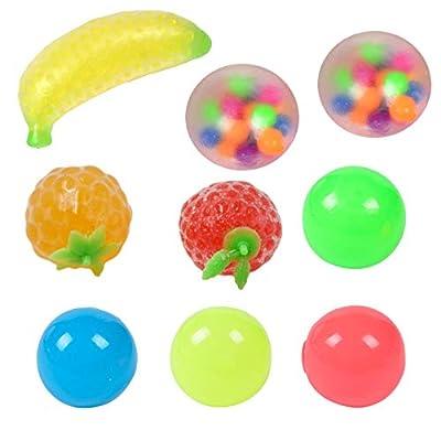 Sticky Globbles Ball Stress Toy, 9PCS Stress Balls Toys Exprimiendo Sticky Descompression Ball Toys, surtido de juguetes especiales para regalos de fiesta de cumpleaños de Guangtuo