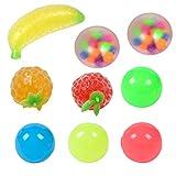 Sticky Globbles Ball Stress Toy, 9PCS Stress Balls Toys Exprimiendo Sticky Descompression Ball Toys, surtido de juguetes especiales para regalos de fiesta de cumpleaños