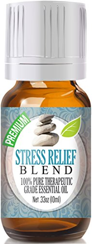 Healing Solutions Stress Relief Blend Essential Oil - 100% Pure Therapeutic Grade Stress Relief Blend Oil - 10ml