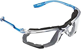 3M VC215AF Virtua CCS 1.5 Diopter Safety Glasses with Clear Frame, Clear Polycarbonate Anti-Fog Lens and Foam Gasket Attachment, Plastic, 7.5