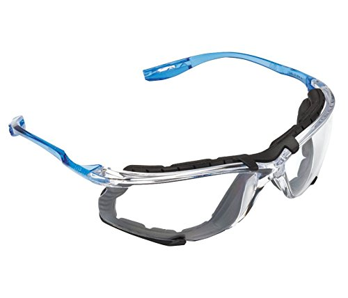 """3M VC215AF Virtua CCS 1.5 Diopter Safety Glasses With Clear Frame, Clear Polycarbonate Anti-Fog Lens And Foam Gasket Attachment, English, 30.68 fl. oz., Plastic, 7.5"""" x 9.8"""" x 9.5"""""""