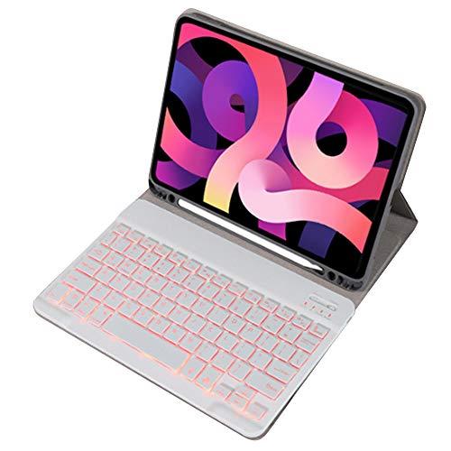 Bolange Funda con Teclado para iPad Air 4, 10.9inch Teclado Bluetooth Teclado Desmontable Funda para Tableta Autosleep con Teclado, Auto-Sueño/Estela