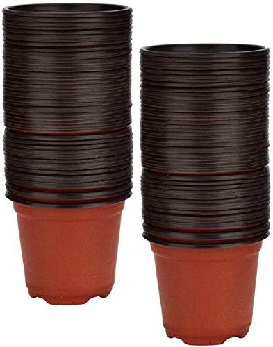 Abwan Blumenpflanztopf, 100PCS Garten Gartenbau-Betrieb Container, wiederverwendbare Pflanzen Seeding Gärtnerei Topf (10 * 9cm)