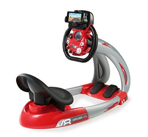 Smoby - V8 Driver + Support Smartphone - Simulateur de Conduite pour Enfant - Volant Electronique - Sons et Lumières - 370206