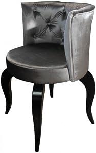 Casa-Padrino barroco Salón Silla Gris - sillones de diseño - Calidad de lujo