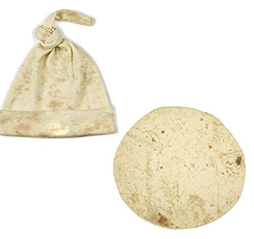 Yunobi Baby-Wickeldecken-Set – Tortilla-Wickeldecke mit Hut, Baby-Mehl Tortilla-Wickeldecke, Schlaf-Wickel-Mütze, tolles Geschenk für Babypartys
