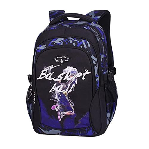 Mochila para niños 20-35L Mochila Estampada de Baloncesto de Dibujos Animados Mochila de Tela Oxford Conveniente para la Escuela y los Viajes (???-??)