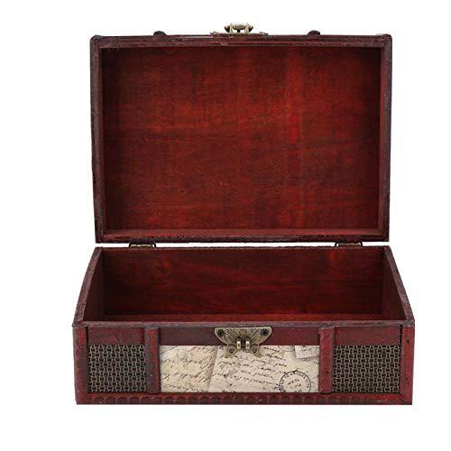 SUCIE Organizador de Almacenamiento, Caja de Almacenamiento Cerradura de Hierro para Joyas o Libros para el hogar y la Oficina(Stamp with Lock, 12)