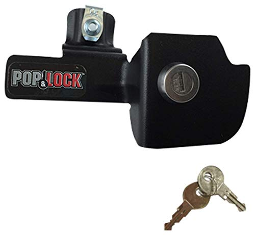 POP & LOCK - Manual Tailgate Lock for 1999-2007 Chevy Silverado, 1999-2007 GMC Sierra Classic (Black)(PL1100)