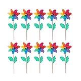 DOITOOL Juego de 10 molinillos de viento coloridos para fiestas de juguete para...