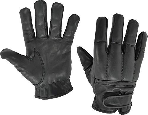 normani Qualitätshandschuhe aus Rindsleder Security Quarzsandhandschuhe Farbe Black Größe M
