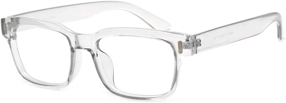 Cyxus Blue Light Blocking Computer Glasses for Anti Eye Strain UV Clear Lens Eyewear Women/Men (8084T34,Crystal)