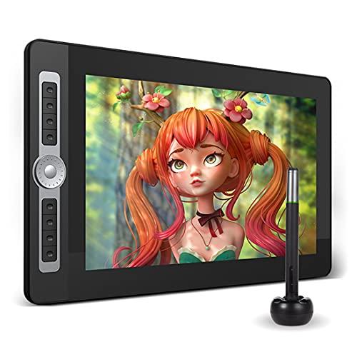 Xyfw Tableta Gráfica De Dibujo De 15,6 Pulgadas, Tecnología Pasiva De Nivel De Presión 8192, Almohadilla De Dibujo Digital con Pantalla LCD H-IPS