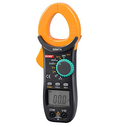 ELIKE 3266TA 600A Autoranging Digital Clamp Meter & Multimeter with NCV,AC/DC Voltage,Resistor,Diode,Continuity