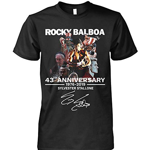 Rocky Balboa 43th Anniversary 1976-2019 Sylvester-Stallone Funny T-Shirt
