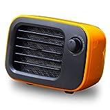 Calentadores eléctricos Fan Desktop Mini Home Office Handy Fast Power Guardar Calentador Portátil Smart Warmer para el Invierno PTC Calefacción de cerámica (Color : Orange, Size : Us)