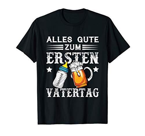 Herren Alles Gute Zum Ersten Vatertag T-Shirt Vater Baby Geschenk