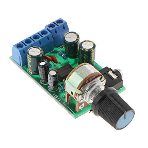 B Blesiya TDA2822M Verstärker 2 Kanäle Stereo 3.5mm AUX Audio Amp Board Modul 1,8-12VDC