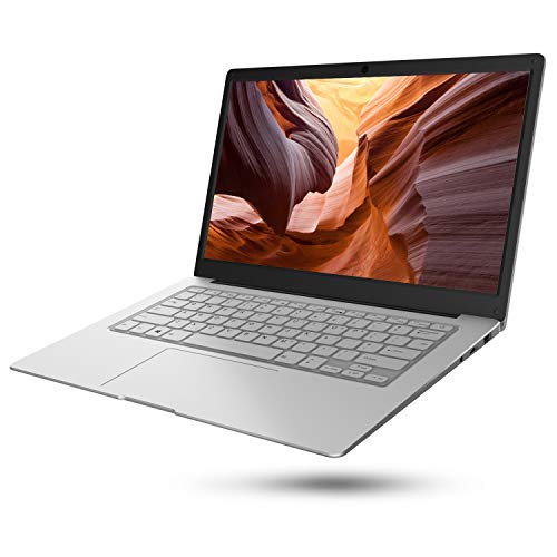 Jumper EzBook S5 14 Zoll FHD IPS Laptop 8GB RAM 256GB SSD, Intel Apollo Lake N3450 Quad Core Prozessor, Windows 10 Notebook Unterstützung 128GB TF Karte erweiterung (Silber)