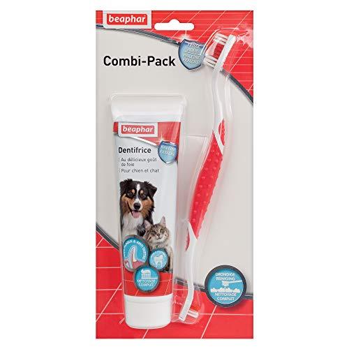 Beaphar - Pasta dental para perros (100 g) con cepillo de dientes 🔥