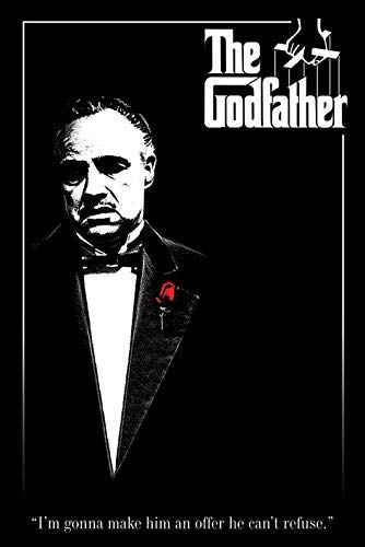 The Godfather - Red Rose Movie Poster Kunstdruck