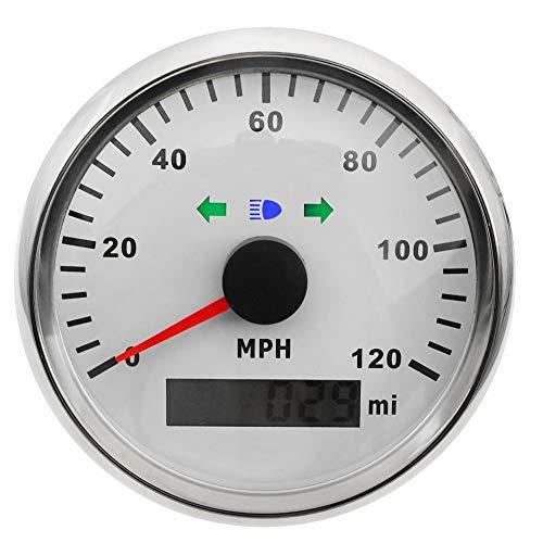 U/D HKRSTSXJ Barco del GPS del Coche Velocímetro Medidor de 0~120 mph Digital velocímetro Izquierda con Giro a la Derecha de la lámpara