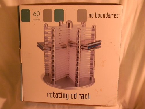 No Boundaries Rotating CD Rack - 60 CD Capacity