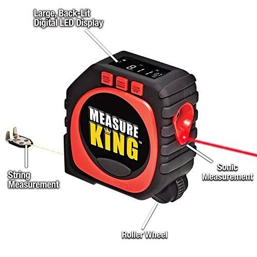 Digital Maßband, Massband Laser Entfernungsmesser 3-in-1 Messwerkzeug Zubehör für Möbel,Digital Tape Measure