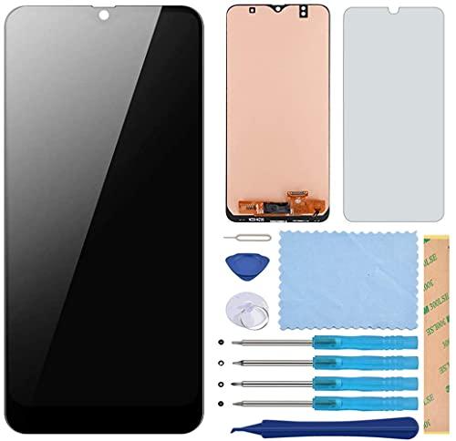 Pieza de Montaje de Reemplazo de Pantalla Digitalizador Táctil de Pantalla LCD para Samsung Galaxy A50 2019, con Herramientas, Protector de Pantalla