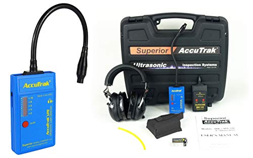 Superior AccuTrak VPE-GN PRO-PLUS Gooseneck Ultrasonic Leak Detector Pro-Plus Kit, Includes VPE Leak Detector, Headset, Battery, Large Carry Case, Touch Probe, Waveguide, Sound Generator, Noise Blocking Headphones