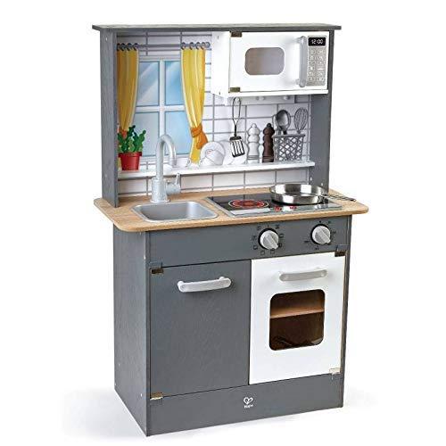 Hape E3166 Spielküche-Innovation, Kinderküche aus Holz, inklusive Zubehör, ab 3 Jahre