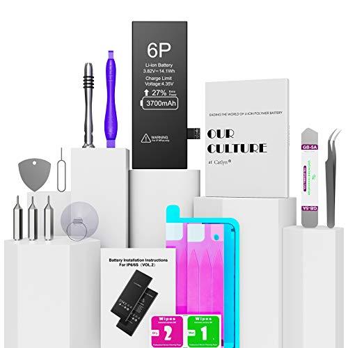 Batería para iPhone 6 Plus 3700mAh con 27% más de Capacidad Que la batería Origina, Reemplazo de Alta Capacidad Batería para iPhone 6 Plus con Kits de Herramientas de reparación, 2 Años de Garantía