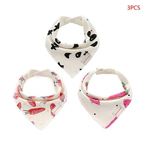 JOYKK 3 Stuks/Pack Baby Feeding Bibs pasgeboren hoofd sjaal Bandana speeksel driehoek Dribble