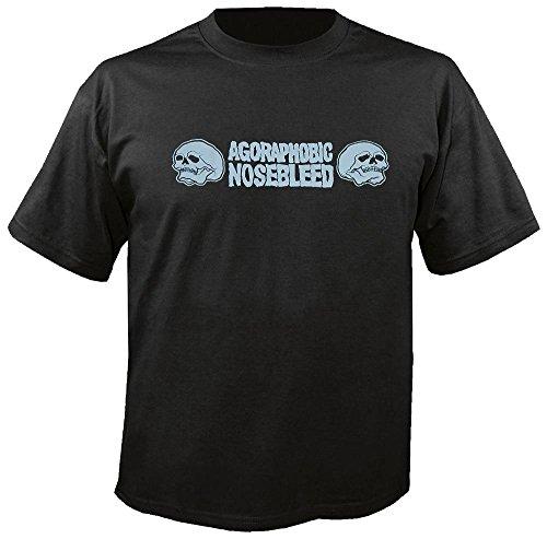 AGORAPHOBIC NOSEBLEED - Skulls - Logo - T-Shirt Größe M