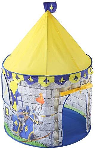 Yellow Ritter Castle Theme Spiel-Zelt nette faltbare Prinzessin Großes Schauspielhaus Indian Indoor Outdoor Fun Camping Teepee for Junge Mädchen mit Tragetasche Spielen Zelte Vorschule Spielzeug for d