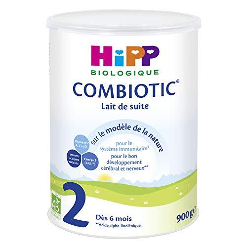 Hipp Biologique Lait 2 Combiotic Lait de Suite dès 6 mois - 6 boîtes de 900 g