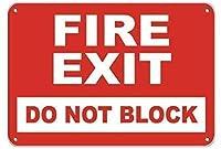 火の出口はブリキのサインをブロックしないヴィンテージ面白い生き物鉄の絵金属板人格ノベルティ