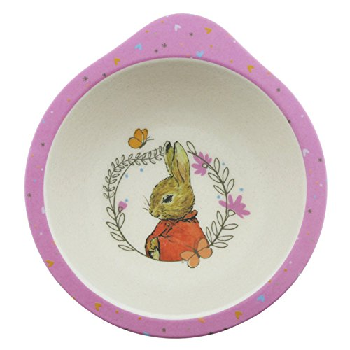 Peter Rabbit, plato hondo rosa, Enesco